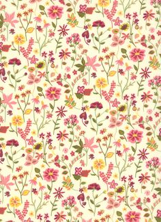100% cotton Liberty Tana Lawn.    Approximately 137cm in width.     Textile Patterns, Textile Design, Print Patterns, Floral Design, Floral Patterns, The Strawberry Thief, Liberty Art Fabrics, Yellow Pattern, Fabric Wallpaper