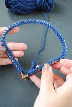 Truco para tejer con agujas circulares
