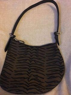 Fendi Small Black Brown Zebra Shoulder Bag Fashion Clothing Shoes Accessories