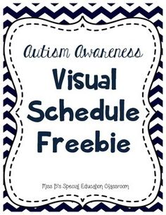 Here is a freebie to assist students in your classroom who have Autism. I would print out the schedule and picture symbols on cardstock. (If helpful, print out two schedule cards and then glue them to the back of each other) Then I would cut out each symbol and the schedule card.