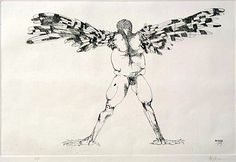 Birdman with Spread Wings ∙ Raptors ∙ R. MICHELSON GALLERIES