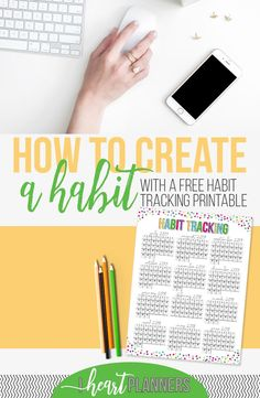 Creating a new habit isn't easy, that's for sure, but it's so worth it. Here's what I'm working on and a FREE PRINTABLE to help you too! - iheartplanners.com