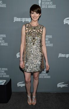 Anne Hathaway - 15th Annual Costume Designers Guild Awards With Presenting Sponsor Lacoste - Red Carpet