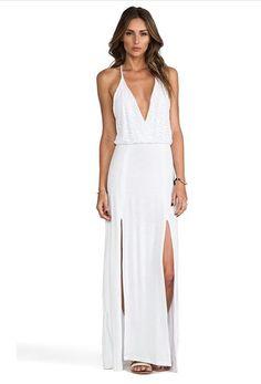 maxi dress deep v lace