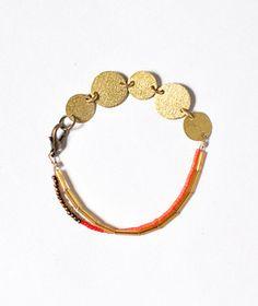 Jewelry idea with brass discs