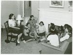 Meeting of NYA [National Youth Administration] girls with an instructor at the Good Shepherd Community Center, Chicago, Illinois.