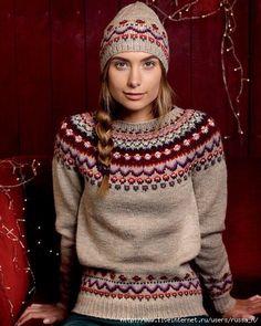 Ideas For Knitting Patterns Free Jumper Fair Isles Sweater Knitting Patterns, Knit Patterns, Knitting Sweaters, Fair Isle Knitting, Free Knitting, Punto Fair Isle, Baby Born Kleidung, Oversize Pullover, Norwegian Knitting