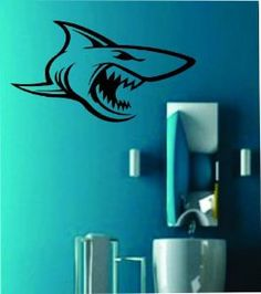 Shark Decal Sticker Wall Art Graphic Fish Ocean by PerfectPeacocks, $24.00