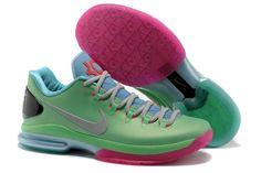 "Nike Zoom Kevin Durant KD V (5) Elite Mens ""Mint Green & Pink"" Nike Basketball Shoes"