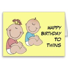 Happy Birthday To Twins Greeting Cards Wishes For Cute Twin
