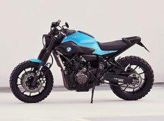 Here's the latest bike from Germany's @jvb_moto � Full story on Pipeburn.con now � @caferacergram #Yamaha #scrambler #caferacergram #pipeburn