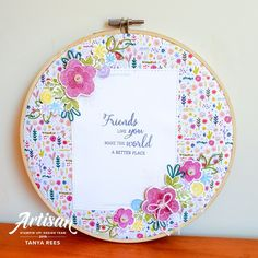 Tanya Rees Papercraft: Stampin' Up! Artisan Design Team Blog Hop - Needlepoint Nook Handmade Home Decor, Handmade Crafts, 3d Paper Crafts, Hand Embroidery Stitches, Ink Pads, Needle And Thread, Embroidered Flowers, Needlepoint, Stampin Up