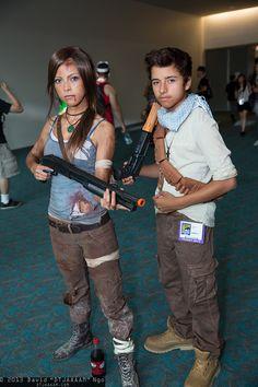 Lara Croft and Nathan Drake #Preteen #Cosplay | SDCC 2013