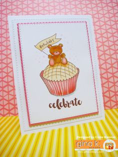 'Celebrate' - cute baby cupcake card made with my new 'Sweet Thing' clear stamps… Baby Cupcake, Cupcake Card, Make A Wish, How To Make, Coffee Crafts, Clear Stamps, Cardmaking, Cute Babies, New Baby Products