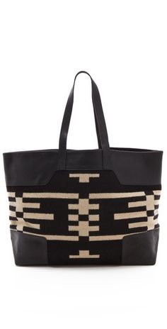 I love tote bags. I like black & beige together too.