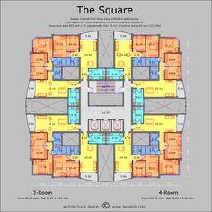 The Square floor plan