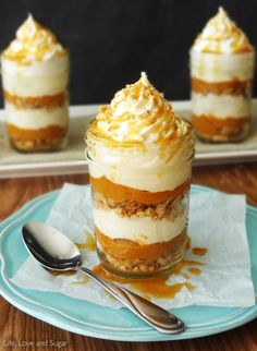 No Bake Pumpkin Pie In A Jar | by Life, Love and Sugar | Sponsored | Giveaway!