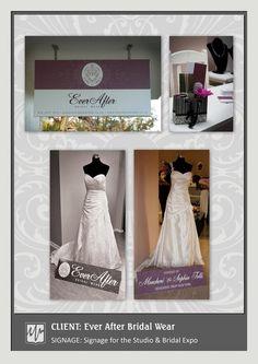 SIGNAGE: Signage for the Studio & Bridal Expo