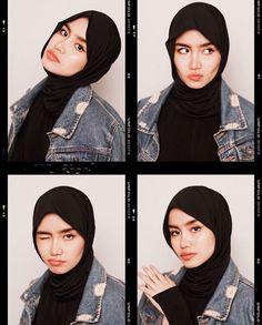 Self Portrait Photography, Fashion Photography Poses, Fashion Poses, Hijabi Girl, Girl Hijab, Selfie Poses, Selfie Ideas, Ootd Hijab, Hijab Outfit