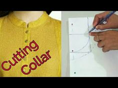 Round Neck Collar / Ben Cutting With Simple & Easy Method – dressideas Chudidhar Neck Designs, Neck Designs For Suits, Neckline Designs, Fancy Blouse Designs, Blouse Neck Designs, Collar Designs, Tailoring Techniques, Sewing Techniques, Embroidery Techniques