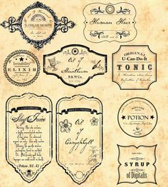 apothecarylabels.jpg Photo:  This Photo was uploaded by GothicGeek. Find other apothecarylabels.jpg pictures and photos or upload your own with Photobuck...