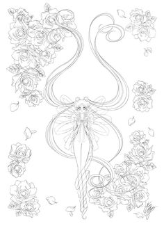 Pin By Animeshewolf On Anime Coloring Book Sailor Moon Sailor Moon Fan Art, Sailor Moon Manga, Sailor Moon Crystal, Sailor Mars, Sailor Moon Coloring Pages, Coloring Pages To Print, Coloring Book Pages, Moon Illustration, Sailor Scouts