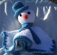Ravelry: Snowman Snuggle Security Blanket pattern by Melissa Graham