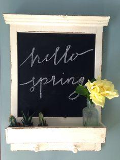 Vintage blackboard - hello spring