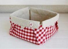 Cestinhas de tecido são simpáticas e funcionais (Foto: handmadiya.com)