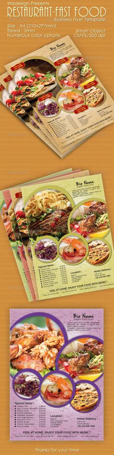 Food Flyer Template  Flyer Template Food Branding And Fonts