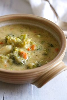 Broccoli Cheese and Potato Soup from @skinnytaste