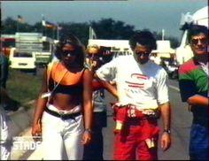 Ayrton Senna e Adriane Galisteu, GP da Hungria, 1993.