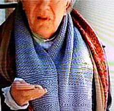 This pattern makes a shawl-width scarf, just as pictured in the movie, Emma. Houses were chilly in those days, and men often wore shawls and caps in the house to keep warm. I you use 1/4 of the cast-on stitches, you'll get a modern adaptation of a normal scarf width.