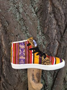 Peruvian Textile High Top Sneakers by PachaMamaDC on Etsy