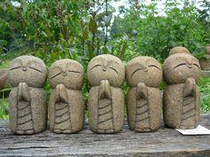 Little monk art ☸️ Baby Buddha, Little Buddha, Pottery Sculpture, Sculpture Art, Fuerza Natural, Cement Art, Stone Statues, Buddha Art, Zen Art