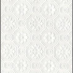 Anaglypta Supaglypta Spencer Floral Paintable Wallcovering by Burke De | BURKE DECOR
