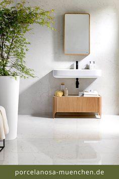 Warm Bathroom, White Bathroom, Floating Nightstand, Simple Shapes, Natural Materials, Keys, Vanity, Culture, Furniture