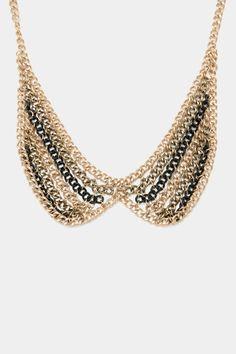 ShopSosie Style : Multi Metal Collar Necklace