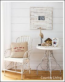 Sand, sea shells, rocks, coral, driftwood, and rope are just a few natural beach decor accessories.