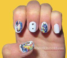awesome Cute Horse Nail Art Designs