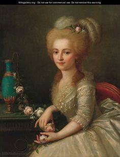 Portrait of a young lady 2 - (after) Antoine Vestier