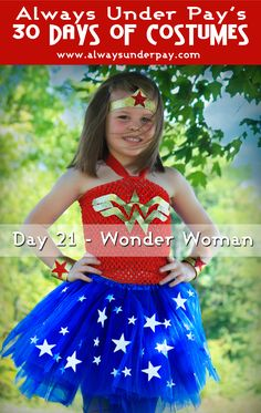 Day 21 – Wonder Woman DIY Halloween Costume Tutorial Cheap Easy | Alwaysunderpay Blog