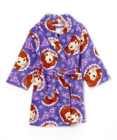 This Purple Sofia the First Robe - Toddler by Sofia the First is perfect! #zulilyfinds
