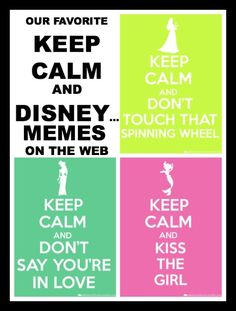 Keep Calm and Don't Touch that Spinning Wheel #Disney