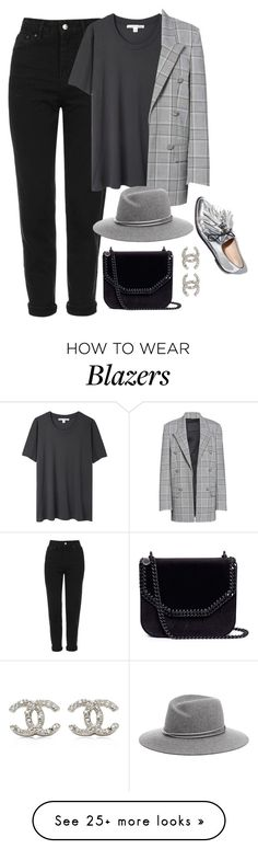 """Untitled #4473"" by magsmccray on Polyvore featuring Topshop, Acne Studios, Alexander Wang, STELLA McCARTNEY and Chanel"