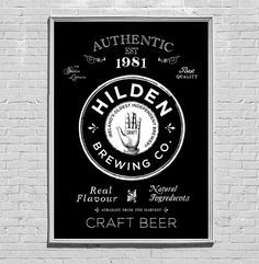 "BREWING COMPANY IDENTITY -  ""It's not every day you get the opportunity to work with Ireland's oldest independent brewery, so after successfully winning the Hilden Brewing Company account, we proceeded to fully rebrand the company and create an exciting new range of beer labels."" - Elm House Creative -"