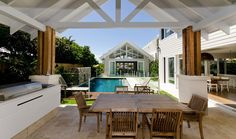 Poolside Living in Contemporary Seaside Home
