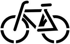 Bicycle lane printable stencil