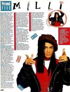 SHV11N1P14 MILLI VANILLI 2 PAGE ARTICLE WITH PICTURE p1 - very funny Milli Vanilli interview