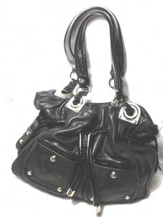 a5792f87705f B.Makowsky Black Leather Handbag Large Satchel Purse Shoulder Bag   BMakowsky  ShoulderBagHandbag